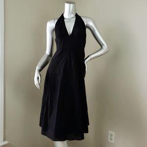 J.Crew Black Halter Cotton Seersucker Dress